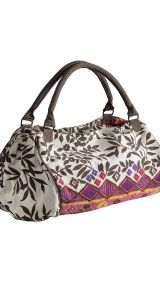 Hippy Bag~Large Ethnic Print Holdall Hippy Patterned Canvas Overnight Bag~Fair Trade by Folio Gothic Hippy SB251